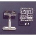 217 Greco-Roman meander Greek Key cufflinks (squared)