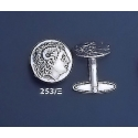 253/X Alexander the Great (Lysimachos) silver cufflinks