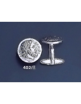402/X Phillip II Macedon coin depicting Zeus silver cufflinks