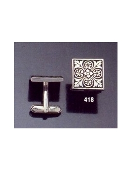 418 Ornate geometric design cufflinks