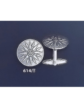 614/X Vergina Macedonian sun/starburst cufflinks