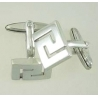 701 Greek Key Meander cufflinks