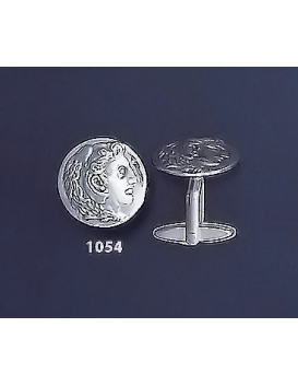 1054 Alexander the Great (Hercules) Silver Coin Cufflinks (M)