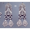 "326 Large sterling silver """"Attica"""" earrings"
