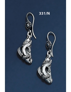 331/N Silver Capricorn Torc Earrings