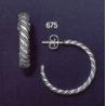 675 sterling silver hoop earrings