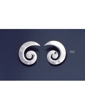 702 Grecian Setrling Silver Spiral Earrings