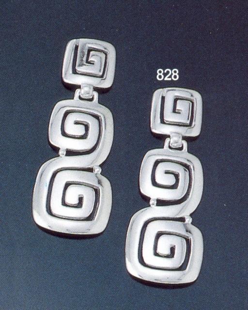 Greek Jewelry Shop 828 Sterling Silver Ionic Meander Greek Key