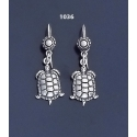 1036 Aegina Land Tortoise Silver Earrings