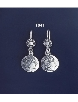 1041 Alexander the Great ( Lysimachos) Silver Earrings
