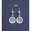 1043 Sterling Goddess Aphrodite (Venus) earrings