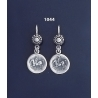 1044 Sterling Silver Corinthian Coin earrings depicting pegasus