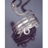 1 Hellenistic coiled snake silver armlet