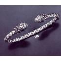 166 Hand-Coiled Lion Torc Bracelet (L)