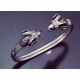 167 Sterling Silver Ram Torc Bracelet