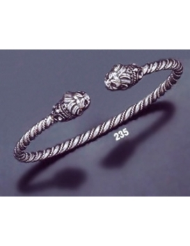 235 Hand-Coiled Lion Torc Bracelet (S)