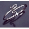 238/B Sterling Silver Coiled Minoan Snake (S)