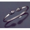 245 Sterling Silver Lion Torc Bracelet (S)