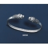 245/A Sterling silver Lion torc bracelet