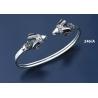 246/A Sterling silver Ram torc bracelet