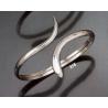 318 Minimal silver snake bracelet