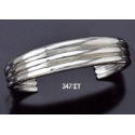 347/ST Triple Solid Silver Band Bracelet (Heavy)