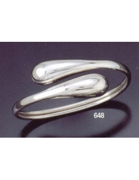 648 Contemporary snake-like silver droplet bracelet