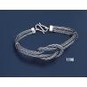 1198 Hand Braided Silver Bracelet
