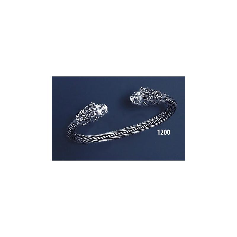 Greek Jewelry Shop - Bracelets - 1200 Hand Braided Silver Lion ...