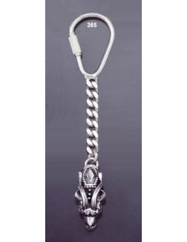 365 Silver Keyring with Capricorn's head