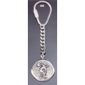 368 Silver Keyring with Discobolus of Myron / Discus Thrower / Diskobolos coin relief