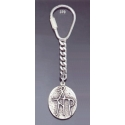 370 Silver Keyring with Byzantine Monogram
