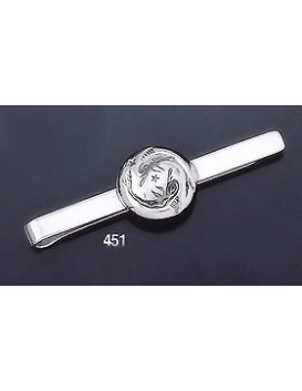451 Sterling Silver Tie-Bar with Minoan Dolphins Intaglio (seal)