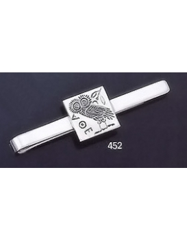 452 Sterling Silver Tie-Bar with Owl of Wisdom Intaglio (seal)