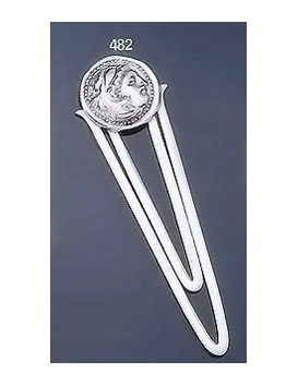 482 Sterling Silver Bookmark with Alexander The Great (Hercules) Coin