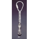 683 Silver Keyring with Traditional Greek Shoe / Tsarouhi Size: