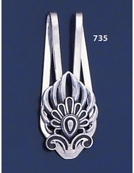 735 Silver Money-clip with Akrokerama
