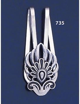 735 Silver Money-clip with Akrokerama