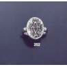 202 Sterling Siver Band Ring with Byzantine Monogram