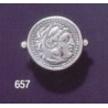 657 Herakles/Hercules Alexander the Great lifetime coin ring