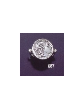 687 Alexander the Great (Lysimachus) coin ring