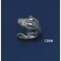 1204 Sterling Silver Crocodile / Alligator Ring