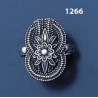 1266 Large Hercules-knot/Gordian knot braided sterling silver ring (L)