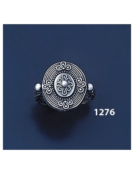 1276 Hellenistic Braided Silver Band Ring