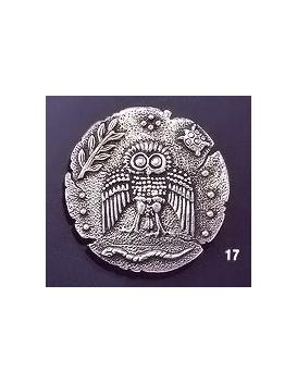 17 Wise owl dekadrachm brooch