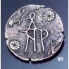 91 Byzantine monogram brooch