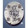92 Byzantine monogram brooch