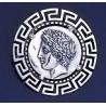 275/KA Chalcidian League, God Apollo with Greek Key Pattern brooch