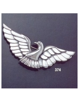 374 silver dove brooch