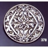 378 Ornate sterling round brooch